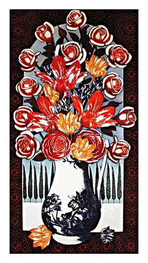 vase of flowers roses